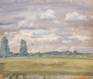 Alfred James Munnings - An Extensive Landscape -