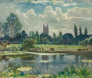 Alfred James Munnings - Barge On The Stour At Dedham