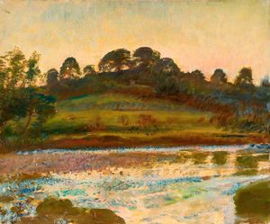 Alfred James Munnings - Brightworthy Ford, Withypool, Exmoor -