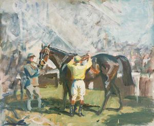 Alfred James Munnings - Study For 'the Unsaddling Enclosure, Epsom' -