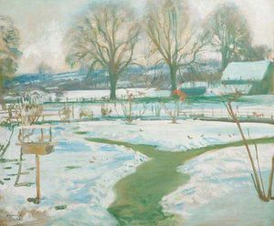 Alfred James Munnings - Winter, Castle House