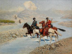 Franz Roubaud - Two Cossack Men