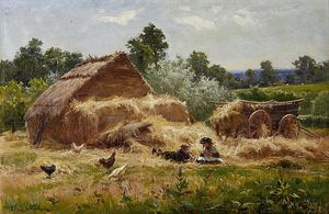 Louis Bosworth Hurt - A Straw Yard, Surrey