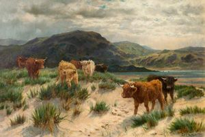 Louis Bosworth Hurt - Cattle On The Ayrshire Coast