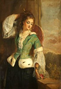 Philip Richard Morris - Portrait Of A Lady In A Green Jacket