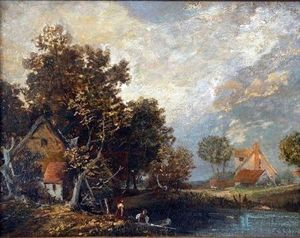 John Paul - Anglers By A Riverbank