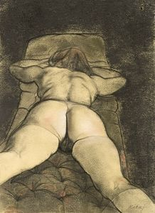 Ronald Brooks Kitaj - Marynka On Her Stomach