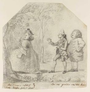 Nathaniel Dance-Holland - A Fat Lady And Two Courtiers