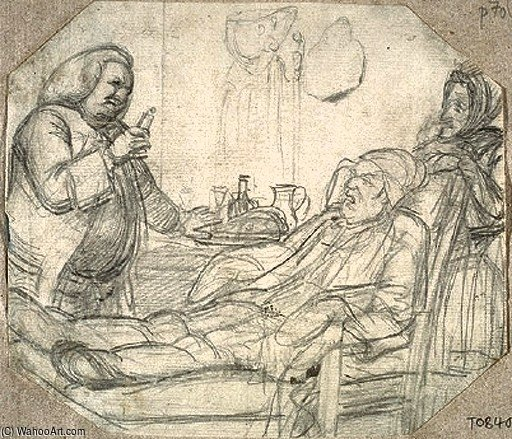 famous painting Physician, Patient And Nurse of Nathaniel Dance-Holland