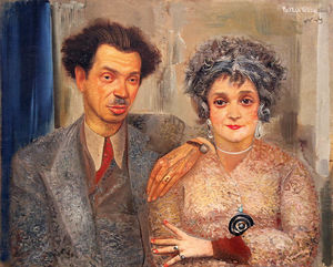 Boris Dmitrievich Grigoriev - Portrait Of Painter N.V. Remizov With His Wife