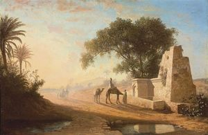 Charles Théodore Frère (Bey) - A Fountain In The Desert