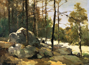 Johan Hendrik Weissenbruch - Forest View At Barbizon