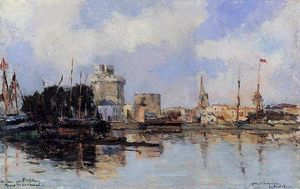Albert-Charles Lebourg (Albert-Marie Lebourg) - La Rochelle the Harbor Bright Sky