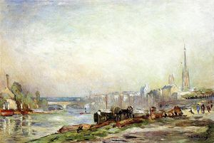 Albert-Charles Lebourg (Albert-Marie Lebourg) - Rouen the Seine and the Cathedral