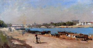 Albert-Charles Lebourg (Albert-Marie Lebourg) - The Banks of the Seine at Bercy