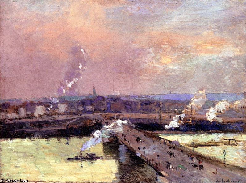 famous painting the pont boieldieu rouen of Albert-Charles Lebourg (Albert-Marie Lebourg)