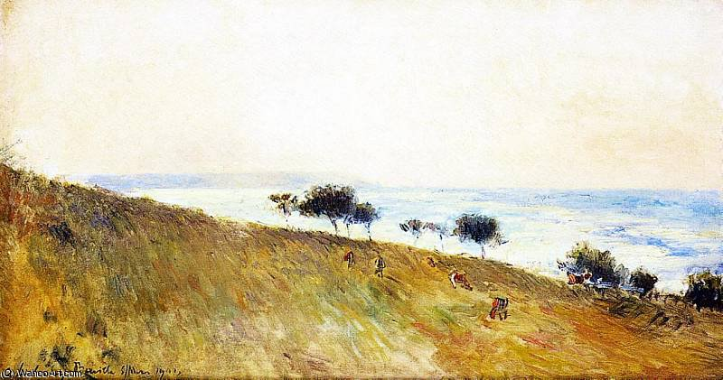 famous painting View of Berville sur Mer of Albert Charles Lebourg