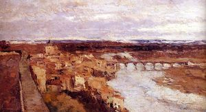 Albert-Charles Lebourg (Albert-Marie Lebourg) - View of the Town of Pont du Chateau