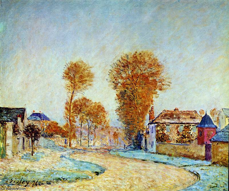 famous painting First blossom Sun of Alfred Sisley