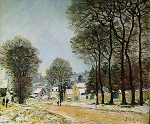 Alfred Sisley - Louveciennes in the snow Sun