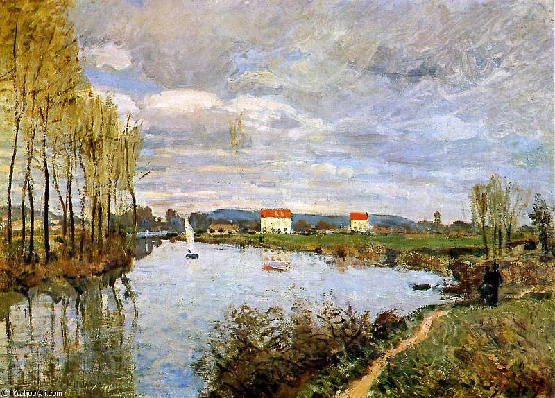 famous painting The Seine at Argenteuil Sun of Alfred Sisley
