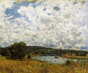 Alfred Sisley - The Seine at Suresnes Sun
