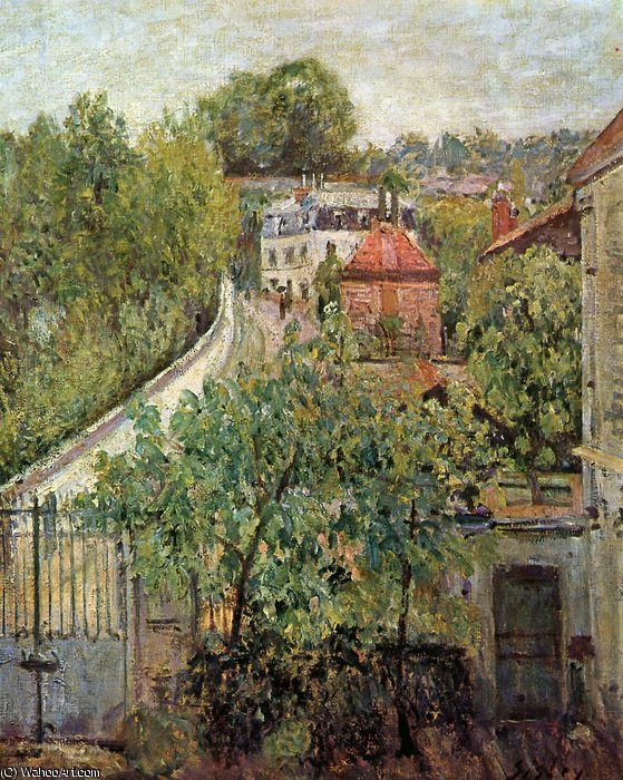 famous painting View on S_vres Sun of Alfred Sisley