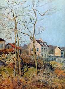 Alfred Sisley - Village at the edge of the forest Sun