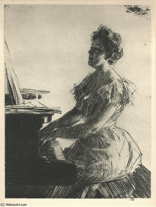 famous painting PlateVIII of Anders Zorn