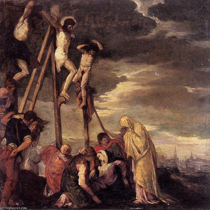 famous painting calvary (after veronese) of Berthe Morisot