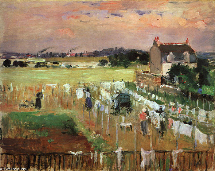 famous painting Hanging out the Laundry to Dry of Berthe Morisot