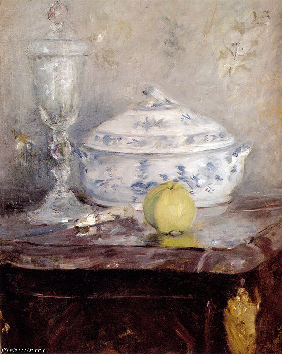 famous painting tureen and apple of Berthe Morisot