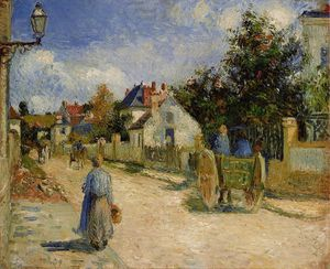 Camille Pissarro - A Street in Pontoise.