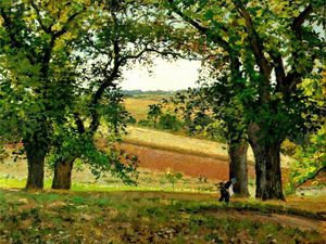 Camille Pissarro - Chestnut Trees at Osny.
