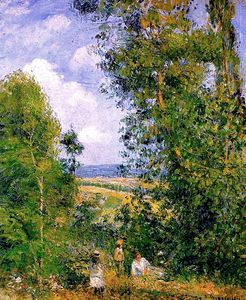 Camille Pissarro - Resting in the Woods at Pontoise.