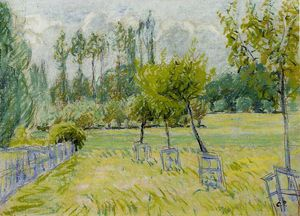 Camille Pissarro - Study of Apple Trees at Eragny.