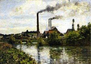 Camille Pissarro - The Factory at Pontoise.
