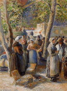 Camille Pissarro - The Market in Gisors.