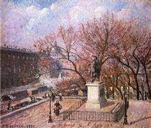 Camille Pissarro - The Pont-Neuf and the Statue of Henri IV.