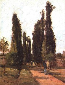 Camille Pissarro - the road.