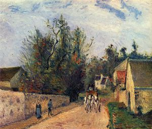Camille Pissarro - The Stage on the Road from Ennery to l_Hermigate, Pontoise.