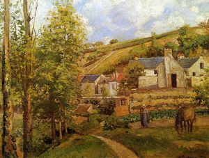 Camille Pissarro - View on Ermitage Sun