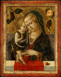 Carlo Crivelli - Madonna and Child, before -