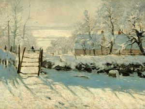 Claude Monet - Magpie, Snow Effect, Outskirts of Honfleur