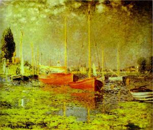 Claude Monet - red boats, argenteuil