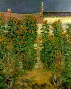 Claude Monet - The Artists Garden at Vetheuil
