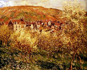 Claude Monet - apple trees in blossom