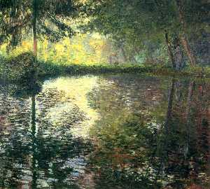 Claude Monet - pond at montgeron
