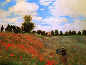 Claude Monet - Rose field near Argenteuil Sun