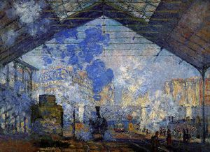 Claude Monet - Saint Lazare station Sun